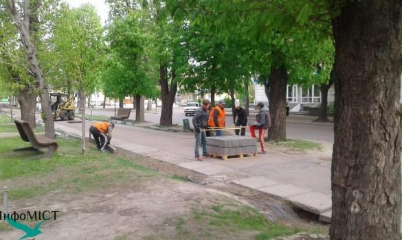 Бульвар Шевченка у Черкасах почали ремонтувати