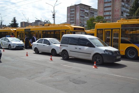 Неподалік Соборної площі у Черкасах сталася чергова ДТП