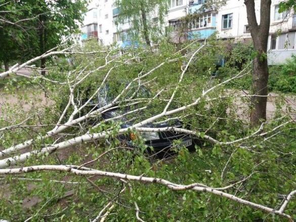 Через сильний вітер у Черкасах травмувався чоловік та потрапили в пастку машини