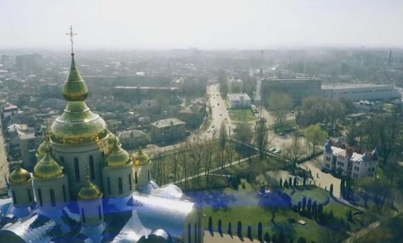 У мережі з'явилося відео найвищого храму, що знаходиться у Черкасах