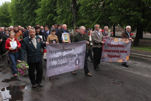 У Черкасах вшанували пам'ять ліквідаторів Чорнобильської катастрофи