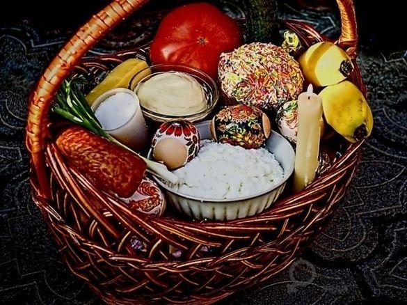 Перелік продуктів, які обов'язково слід покласти до великоднього кошика