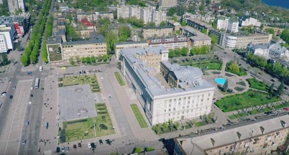 Черкащанам показали центр міста з висоти пташиного польоту