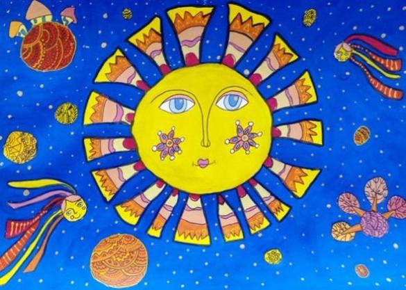 Маленькі черкащани прославилися завдяки космічним малюнкам
