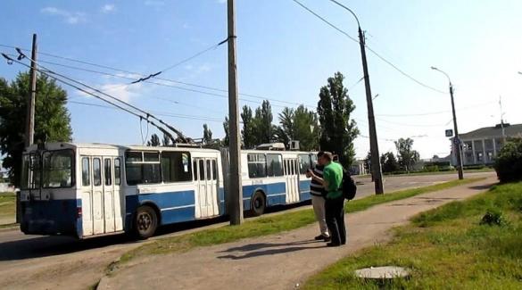 Чехів у Черкасах здивували старі тролейбуси