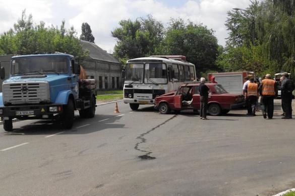 У Черкасах cталася ДТП за участі маршрутки