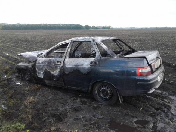На Черкащині посеред дороги загорівся автомобіль (ФОТО)