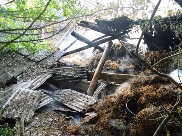 На Черкащині через дитячі пустощі ледь не згорів сарай