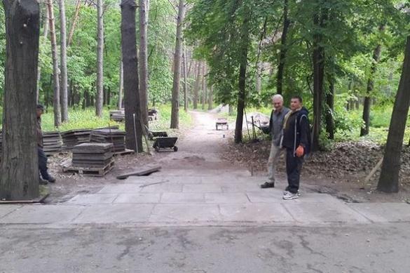 Один із черкаських парків набуває нового вигляду (ФОТО)