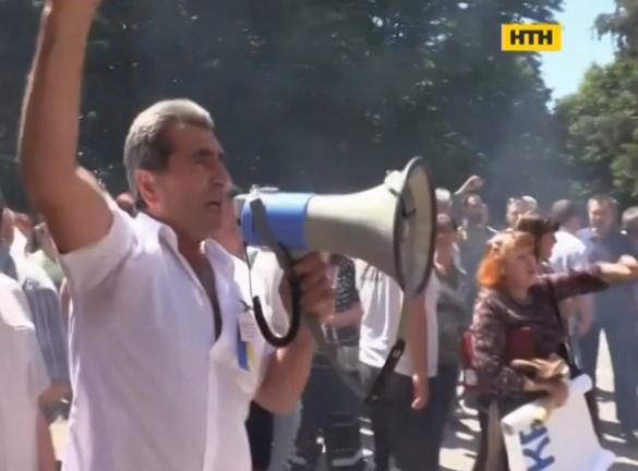 На Черкащині масовий протест селян перетворився в бійку