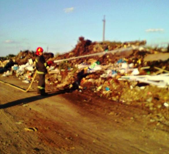На сміттєзвалищі у Чорнобаї сталася пожежа