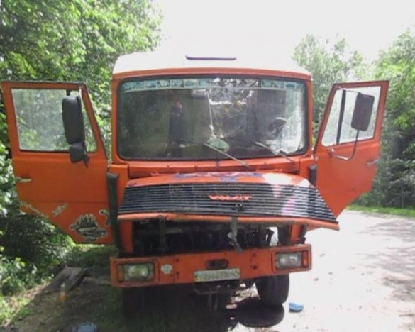 На Черкащині під час руху спалахнув вантажний автомобіль