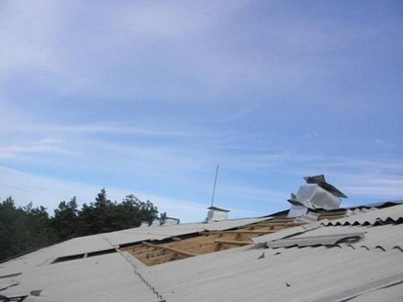 На Черкащині смерч пошкодив будинок та викорчував дерева