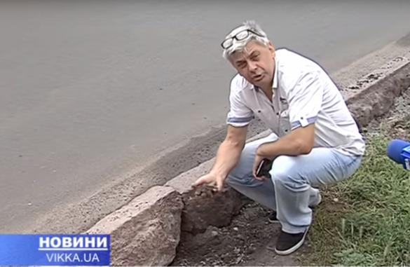 Черкаських активістів обурює якість робіт по укладенню бордюрів на одній із вулиць міста