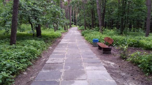 У черкаському парку облаштували пішохідну доріжку (ФОТО)