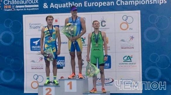 Черкаський триатлоніст здобув золото чемпіонату Європи
