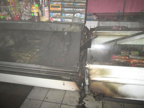 На Черкащині у продуктовому магазині сталася пожежа