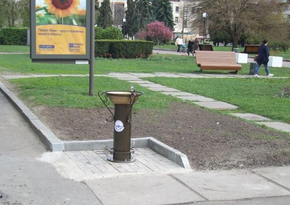 Питні фонтанчики у черкаських парках та скверах з'являться цього місяця