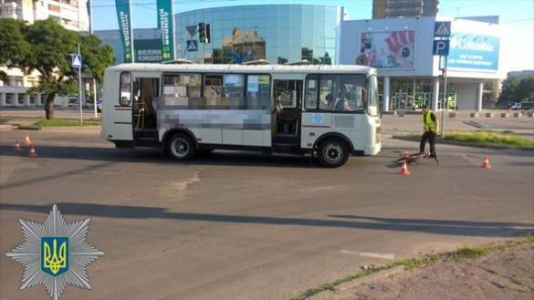 ДТП у Черкасах: маршрутка наїхала на велосипедиста