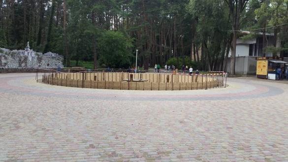 У черкаському парку відновлюють ще один водограй (ФОТО)