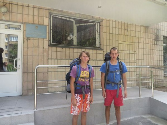Туристичні мандрівники зі Львову пішки дійшли вже і до Черкас