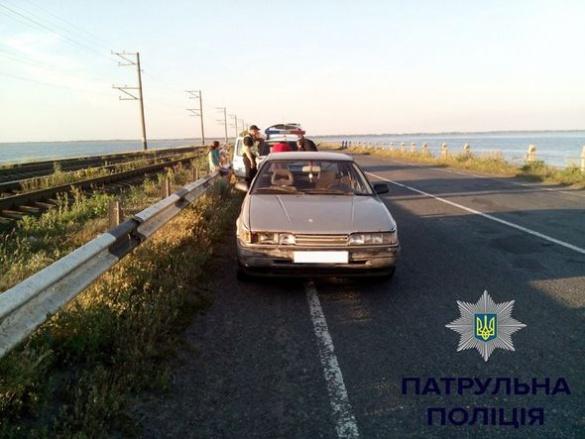 П'яного водія затримали патрульні на черкаській греблі