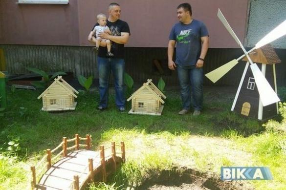 У Черкасах двоє сусідів почали займатися вуличним декором