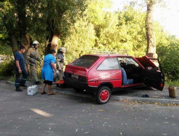 ДТП на Черкащині: автомобіль з дітьми в'їхав у дерево