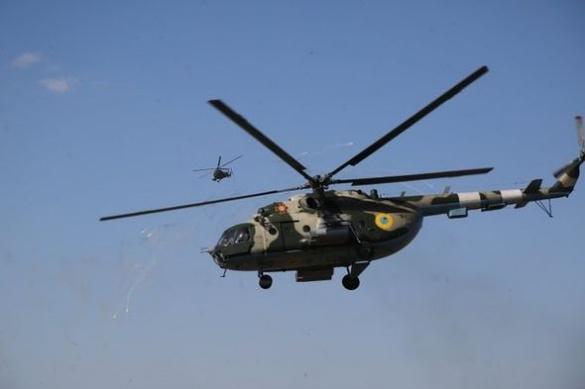 Військові вертольоти зафіксували в небі над Черкащиною