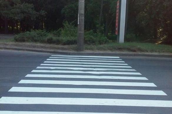 У Черкасах з'явився оригінальний пішохідний перехід