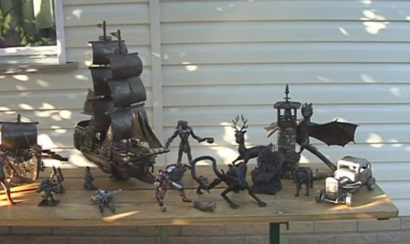 Черкащанин створює кораблі та драконів з металу (ВІДЕО)