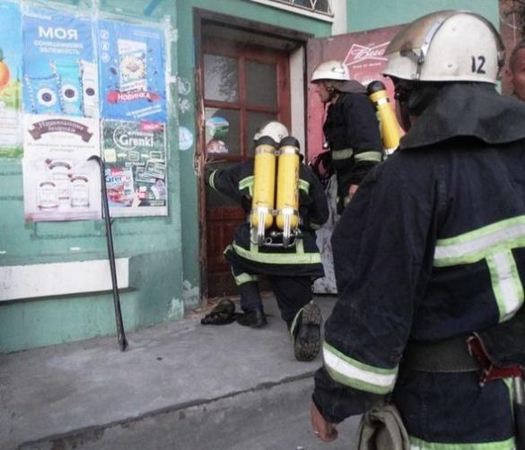 На Черкащині пожежа охопила магазин
