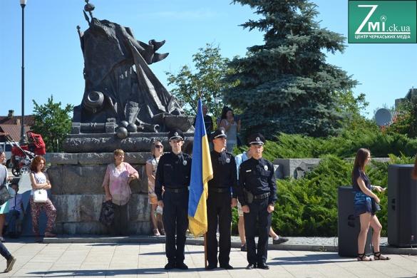 Черкаські поліцейські яскраво відзначили річницю роботи (ФОТО)