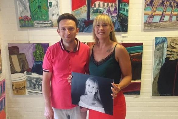 Черкаська художниця вразила львів'ян своїми картинами (ФОТО)
