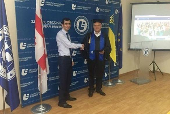 Ректор одного із черкаських вишів став почесним доктором у Тбілісі