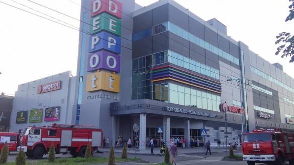 До нового черкаського ТРЦ завітали рятувальники (ФОТО)