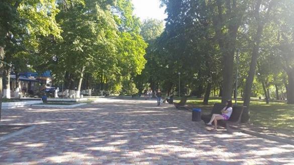 В одному із черкаських парків тепер оновлена алея