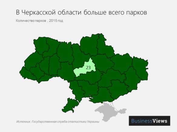 Черкащина стала лідером в Україні за кількістю парків