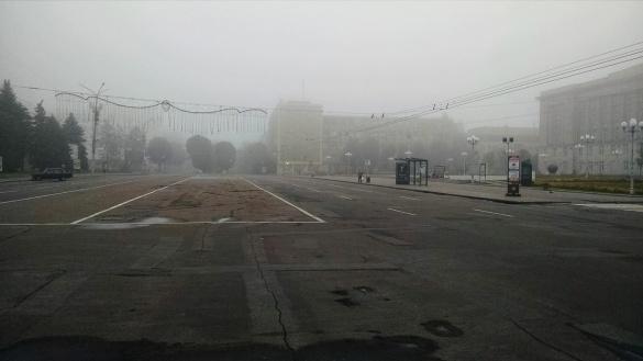 Черкащани у мережі діляться вражаючими фото міста у тумані