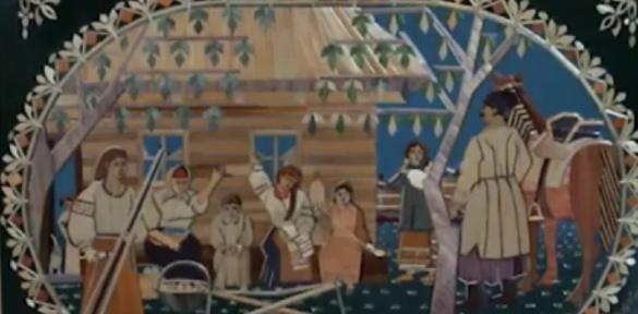 У Черкасах 80-річний художник створює картини із соломи