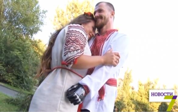 Героїчний АТОвець, виживши після поранення, одружився на черкащанці (ВІДЕО)