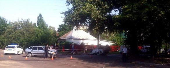 ДТП у Черкасах: через зіткнення авто перевернулося на дах