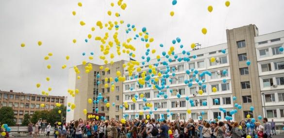 У День Незалежності черкащани запустили у небо прапор з повітряних кульок