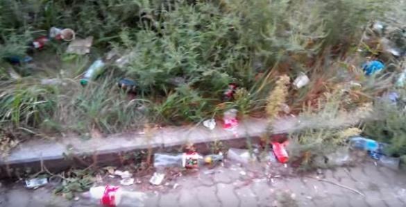 Невиховані черкащани перетворили площу біля нічого клубу на смітник (ВІДЕО)
