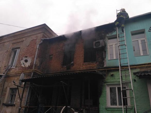 Пожежні врятували черкащанку з палаючого будинку (ВІДЕО)
