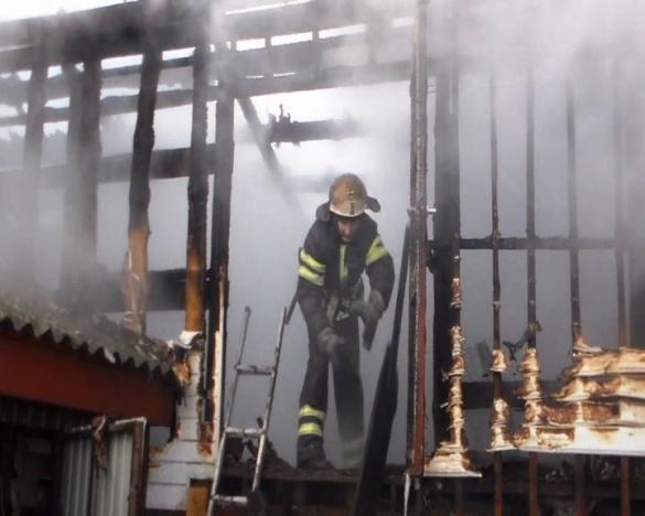 На Черкащині згорів сарай з домашньою худобою