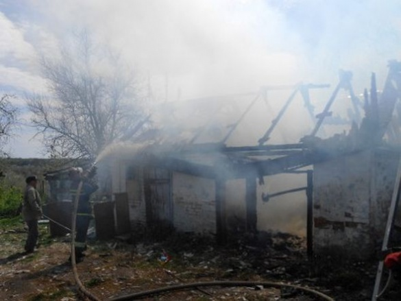 Чергова пожежа виникла на Черкащині через дитячі пустощі