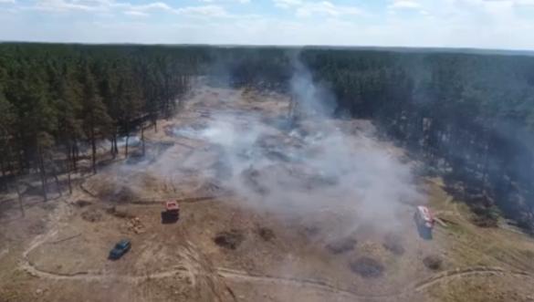 На Черкащині рятувальники загасили лісову пожежу