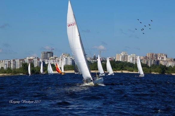 Під час регати у Черкасах на Дніпрі змагалися майже 40 яхт (ФОТО)