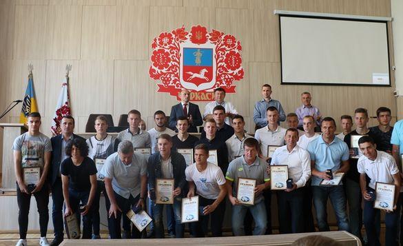 Черкаські футболісти отримали грамоти за свій тріумф